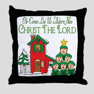 Christmas Carol Series Throw Pillow