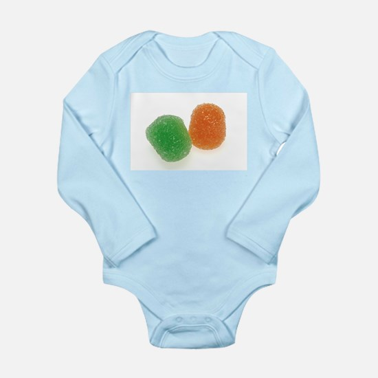 Orange and Green Gumdrops Body Suit