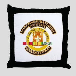 121st Signal Battalion (Divisional) w Throw Pillow