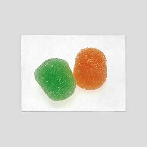 Orange and Green Gumdrops 5'x7'Area Rug