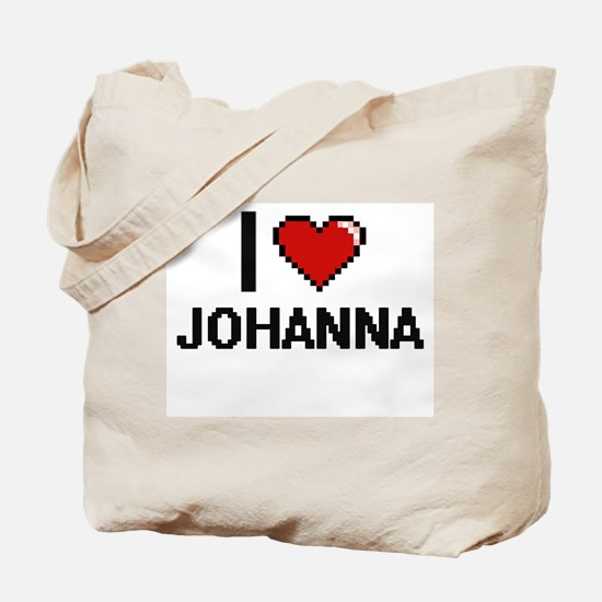 I Love Johanna Digital Retro Design Tote Bag