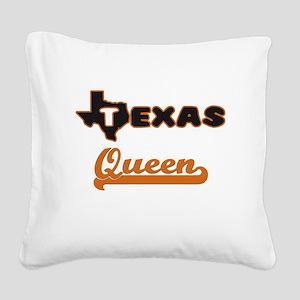 Texas Queen Square Canvas Pillow
