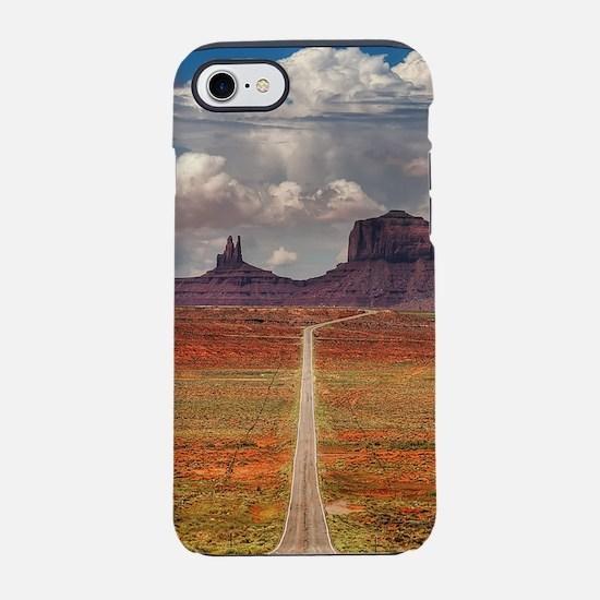 Road Trough Desert iPhone 7 Tough Case