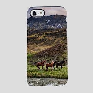 Landscape and Horses iPhone 7 Tough Case