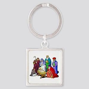 Colorful Christmas Nativity Scene Keychains
