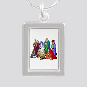 Colorful Christmas Nativity Scene Necklaces