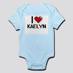 I Love Kaelyn Digital Retro Design Body Suit