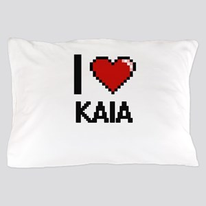 I Love Kaia Digital Retro Design Pillow Case