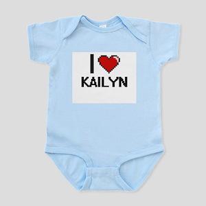 I Love Kailyn Digital Retro Design Body Suit