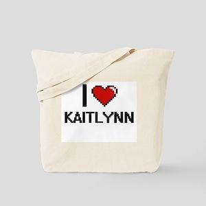 I Love Kaitlynn Digital Retro Design Tote Bag