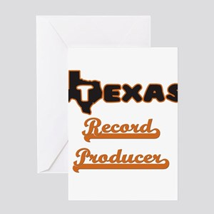 Texas Record Producer Greeting Cards