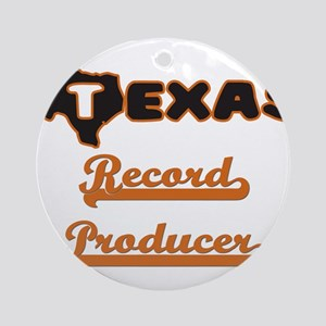 Texas Record Producer Ornament (Round)