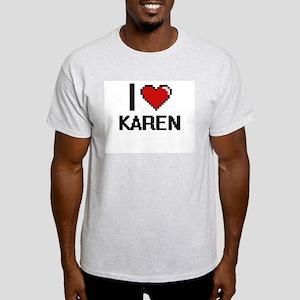 I Love Karen Digital Retro Design T-Shirt