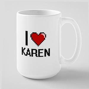 I Love Karen Digital Retro Design Mugs