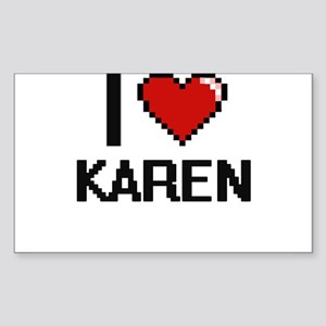 I Love Karen Digital Retro Design Sticker