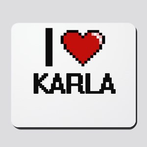 I Love Karla Digital Retro Design Mousepad