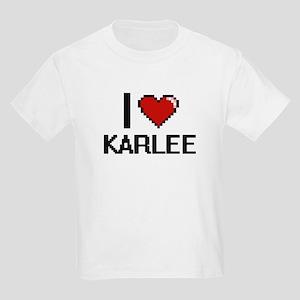 I Love Karlee Digital Retro Design T-Shirt