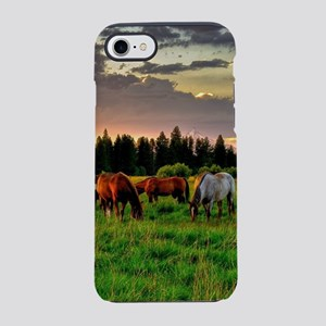 Horses Grazing iPhone 7 Tough Case
