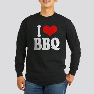 I Love BBQ Long Sleeve Dark T-Shirt
