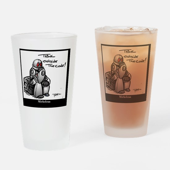 Cute Artificial intelligence Drinking Glass