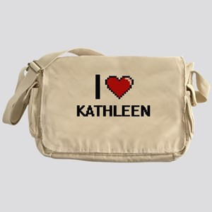 I Love Kathleen Digital Retro Design Messenger Bag