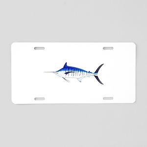 Blue Marlin v2 Aluminum License Plate