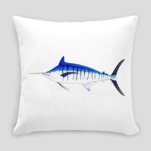Blue Marlin v2 Everyday Pillow