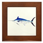 Blue Marlin v2 Framed Tile