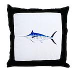 Blue Marlin v2 Throw Pillow