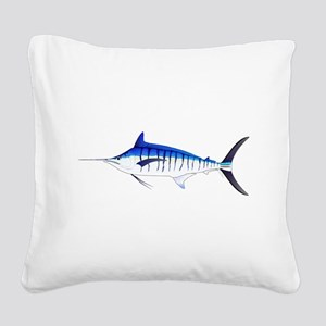 Blue Marlin v2 Square Canvas Pillow