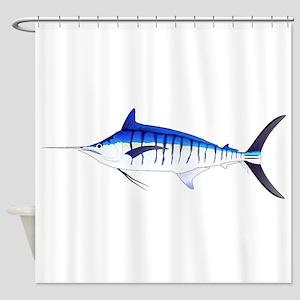 Blue Marlin v2 Shower Curtain