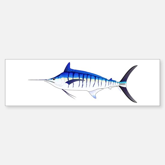 Blue Marlin v2 Bumper Bumper Bumper Sticker