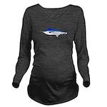 Blue Marlin v2 Long Sleeve Maternity T-Shirt