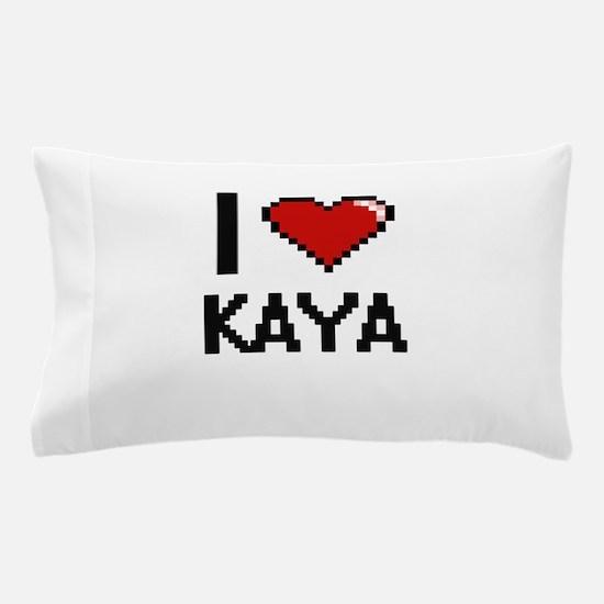I Love Kaya Digital Retro Design Pillow Case