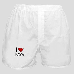 I Love Kaya Digital Retro Design Boxer Shorts