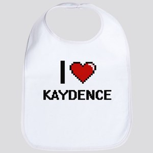 I Love Kaydence Digital Retro Design Bib