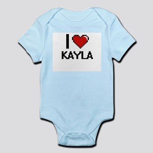I Love Kayla Digital Retro Design Body Suit