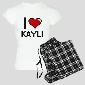 I Love Kayli Digital Retro Women's Light Pajamas