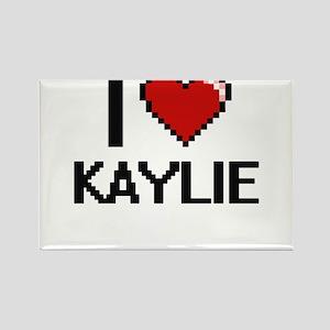 I Love Kaylie Digital Retro Design Magnets
