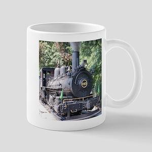 steam train close up shot Mugs