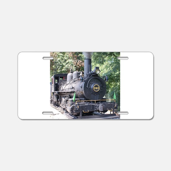 steam train close up shot Aluminum License Plate