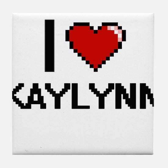 I Love Kaylynn Digital Retro Design Tile Coaster