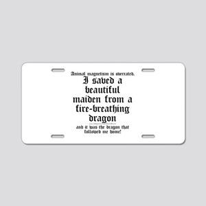 Animal Magnetism Aluminum License Plate