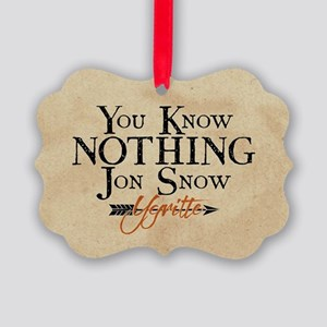 GOT You Know Nothing Jon Snow Ornament
