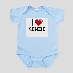 I Love Kenzie Digital Retro Design Body Suit