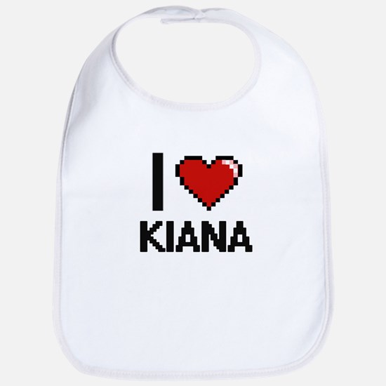 I Love Kiana Digital Retro Design Bib