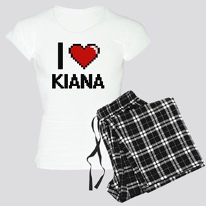 I Love Kiana Digital Retro Women's Light Pajamas