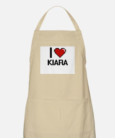 I Love Kiara Digital Retro Design Apron