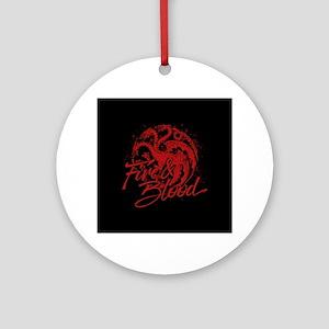 GOT Targaryen Fire And Blood Round Ornament