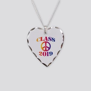 Class of 2019 Necklace Heart Charm